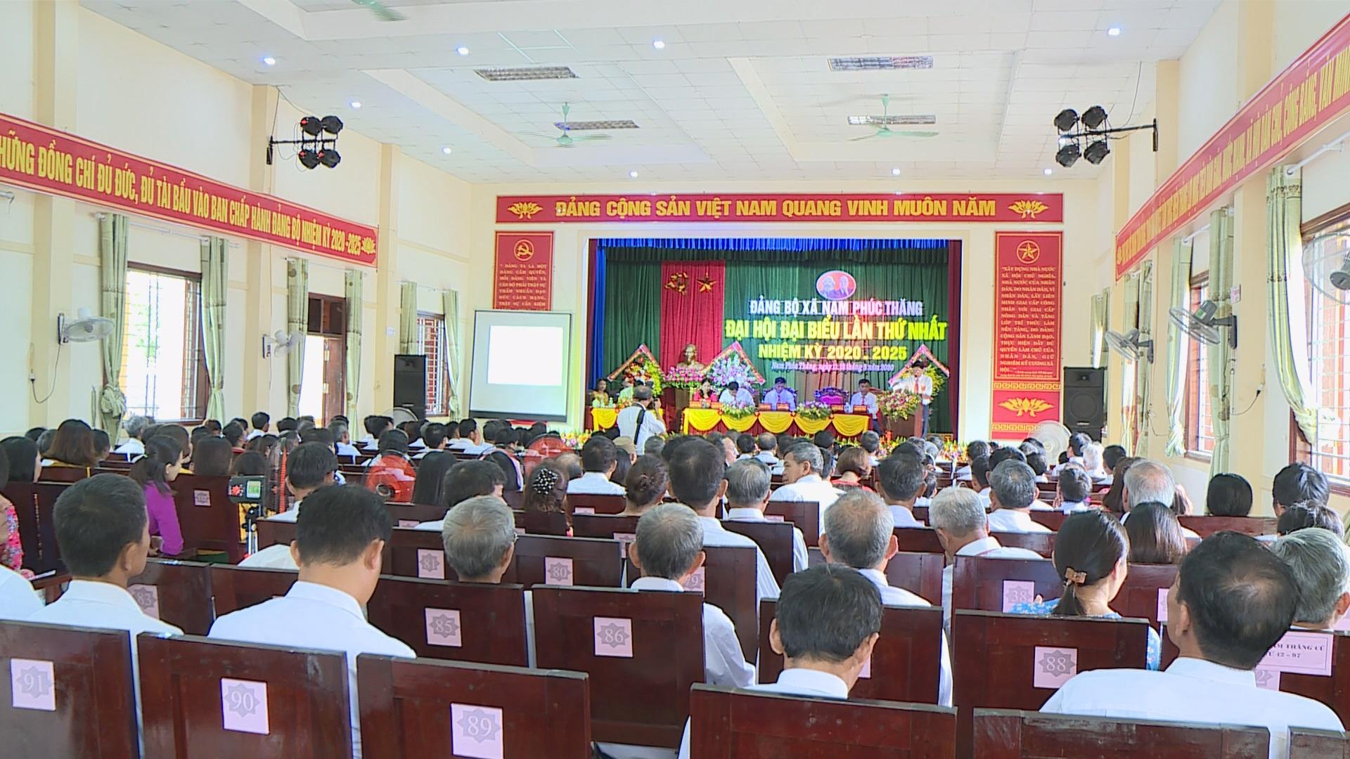 Đại hội Đảng bộ Xã Nam Phúc Thăng lần thứ nhất, nhiệm kỳ 2020-2025.