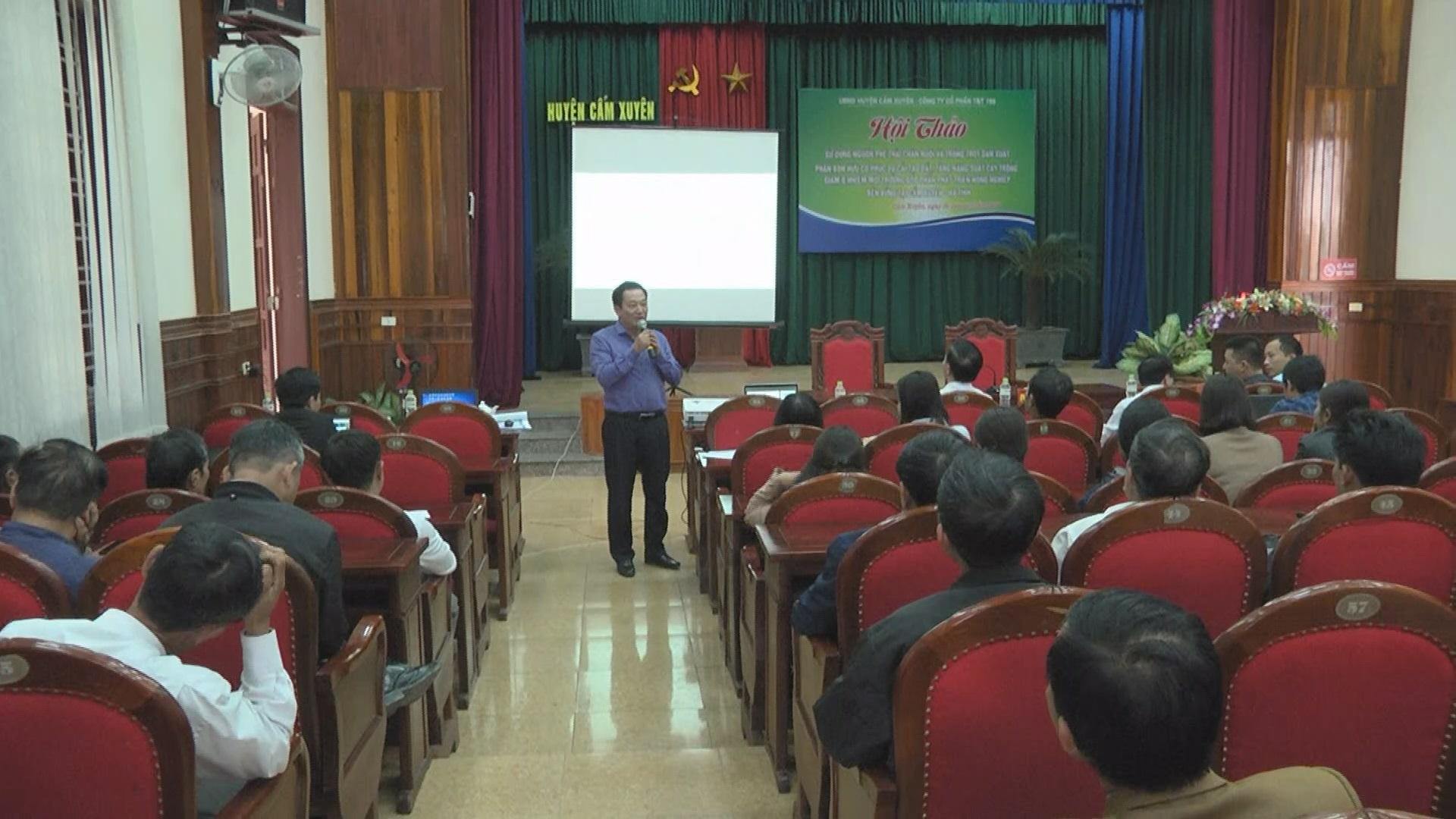 Hội thảo Chuyên đề chuyển giao các tiến bộ KHKT trong sản xuất nông nghiệp Hữu cơ.