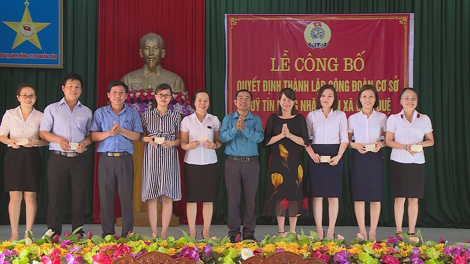 Ra mắt Công đoàn Quỹ tín dụng nhân dân xã Cẩm Duệ