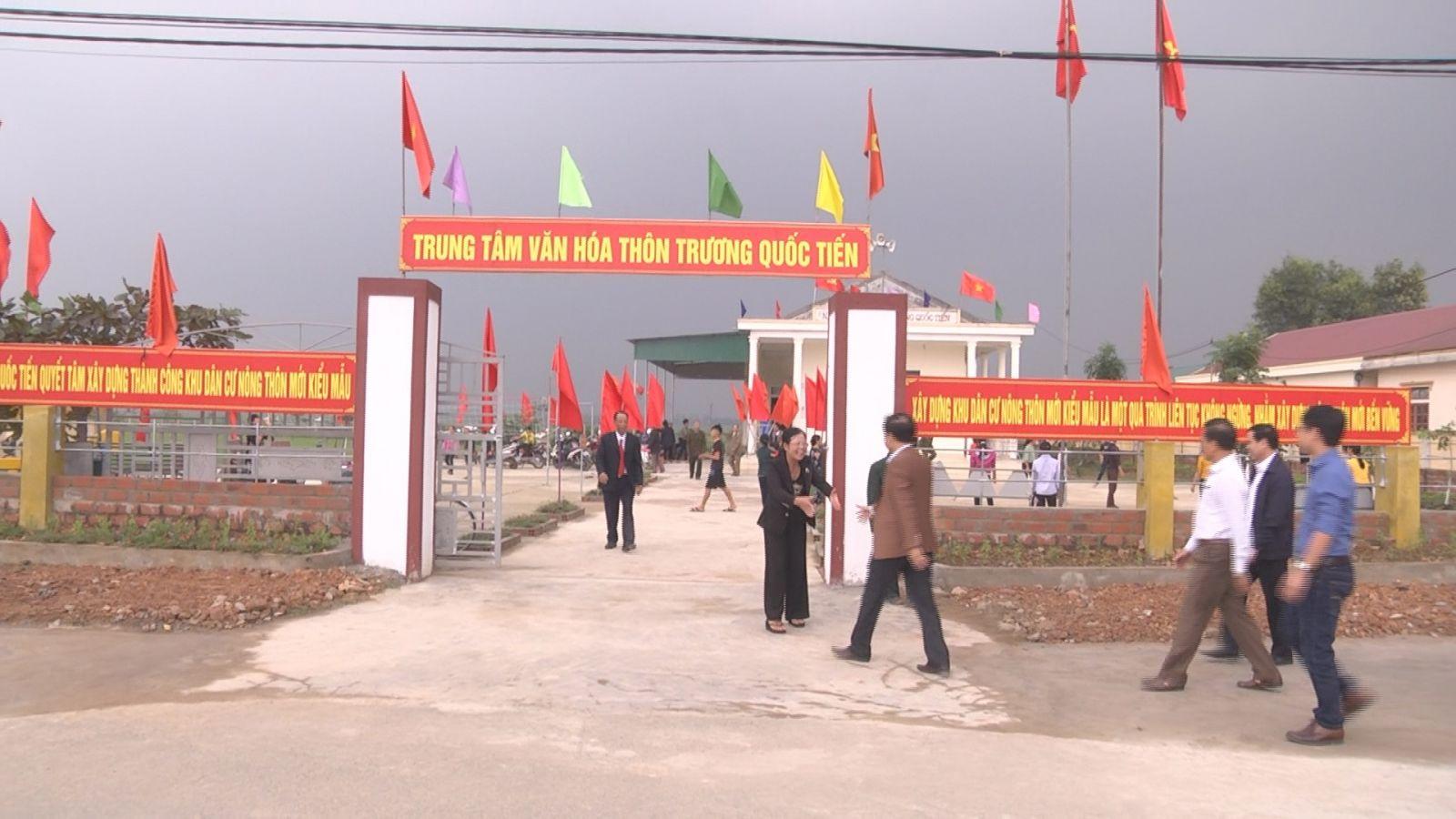 Văn phòng điều phối NTM tỉnh thẩm định kết quả xây dựng NTM ở xã Cẩm Duệ