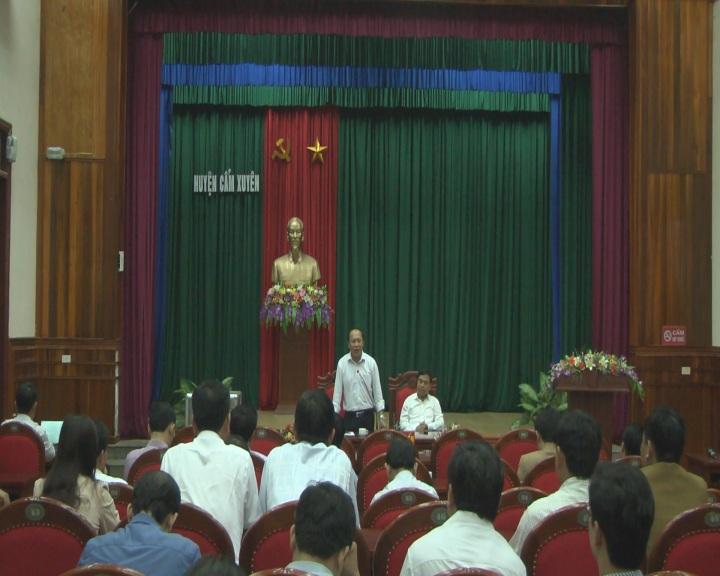 UBND huyện Cẩm Xuyên hội nghị lấy ý kiến góp ý, thống nhất đề nghị UBND tỉnh thẩm định, công nhận xã đạt chuẩn NTM năm 2017