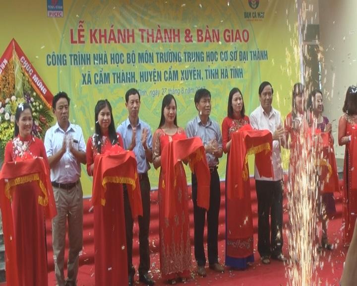 Lễ khánh thành và bàn giao nhà học Công trình nhà học bộ môn Trường THCS xã Cẩm Thành