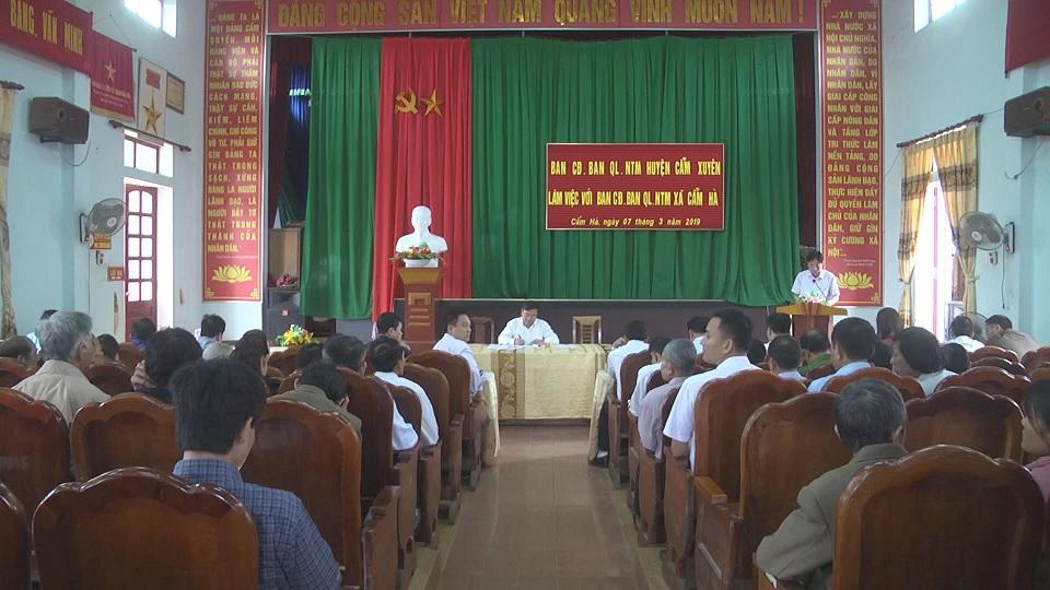 Ban chỉ đạo chương trình MTQG xây dựng NTM huyện làm việc với xã Cẩm Hà về xây dựng NTM