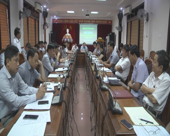 Hội nghị đánh giá công tác chỉ đạo cơ sở tháng 8, nhiệm vụ trọng tâm tháng 9 năm 2017.